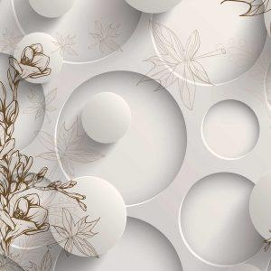 پوستر دیواری گل سه بعدی کد mt-83387