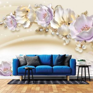 پوستر دیواری گل سه بعدی کد mt-83401