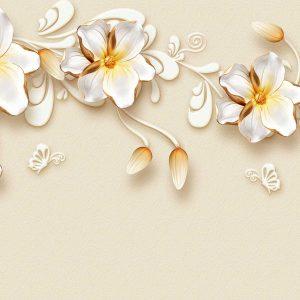 پوستر دیواری گل سه بعدی کد mt-83402