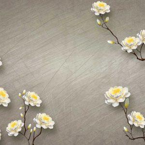 پوستر دیواری گل سه بعدی کد mt-83403