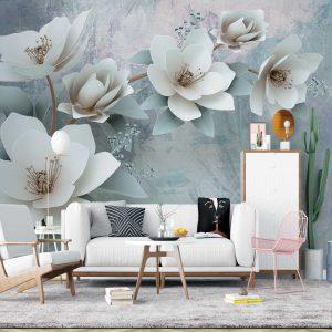 پوستر دیواری گل سه بعدی کد mt-83406