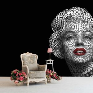 پوستر دیواری تصویر چهره زن کد mt-83506