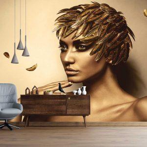 پوستر دیواری تصویر چهره زن کد mt-83509