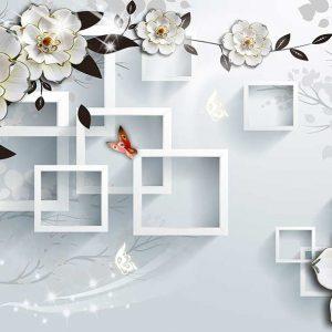 پوستر دیواری گل سه بعدی کد mt-83525
