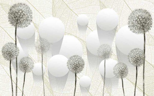پوستر دیواری گل سه بعدی کد mt-83530