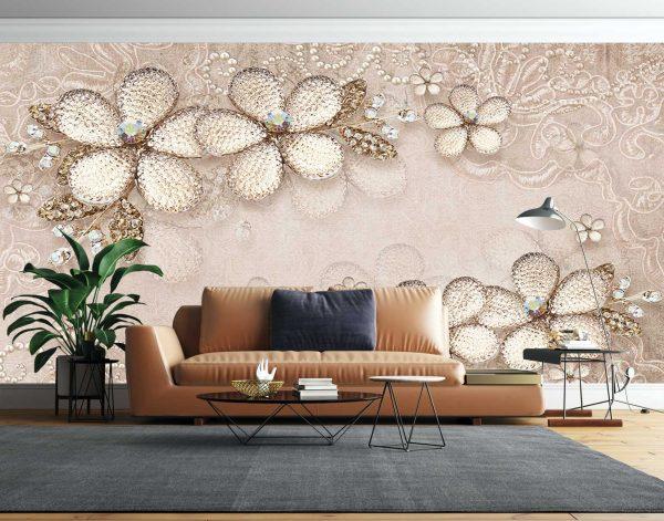 پوستر دیواری گل سه بعدی کد mt-83532
