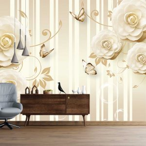 پوستر دیواری گل سه بعدی کد mt-83540