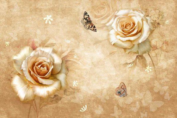 پوستر دیواری گل سه بعدی کد mt-83543