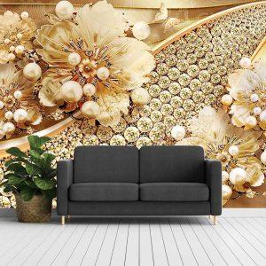 پوستر دیواری گل سه بعدی کد mt-83544