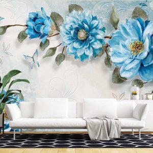 پوستر دیواری گل سه بعدی کد mt-83545