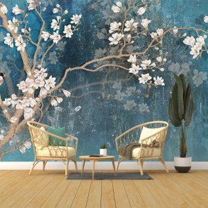 پوستر دیواری گل سه بعدی کد mt-83547