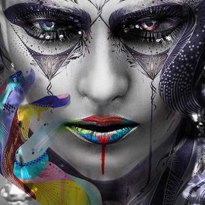 پوستر دیواری تصویر چهره زن کد mt-83573