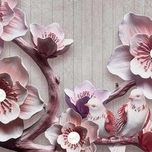 پوستر دیواری گل سه بعدی کد mt-83577