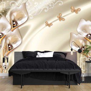 پوستر دیواری گل سه بعدی کد mt-83578