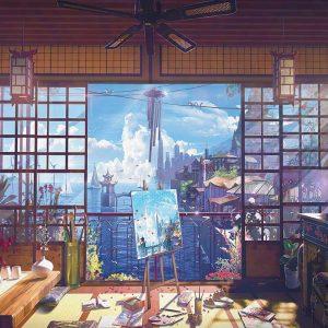 پوستر دیواری منظره پنجره کد mt-83615