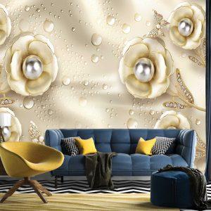 پوستر دیواری گل سه بعدی کد mt-83623