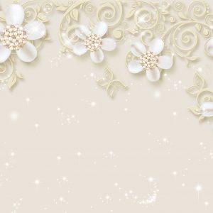 پوستر دیواری گل سه بعدی کد mt-83626