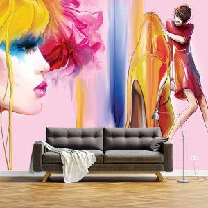 پوستر دیواری آرایشگاه زنانه کد mt-83629