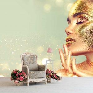 پوستر دیواری آرایشگاه زنانه کد mt-83652